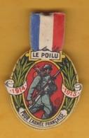Guerre 14-18 WWI - Insigne Papier - Le Poilu Pour L'Armée Française 1914-15 - Comité Des Fêtes De Bienfaisance De Dijon - Heer