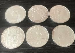 Lot De 6 Pièces 100 Francs De 1987 à 1992 - SPL - N. 100 Francs