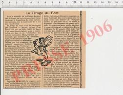 Presse 1906 Loi Militaire De Deux Ans Suppression Du Tirage Au Sort Service à L'Armée Numéro Chapeau CHV29 - Unclassified