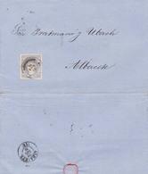 Año 1870 Edifil 107 Alegoria Carta De Centellas Matasellos Granollers Barcelona 2 M . Pratmasso - 1868-70 Gobierno Provisional
