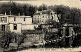 Cp Villeneuve Saint Georges Val De Marne, Château De L'Yerres - France