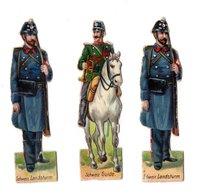 Lot De Découis Cartonnés, Militaire, Soldats De La Suisse, Hauteur Env. 8,5 Cm - Découpis