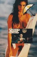 CPM Les Chansons De G. BRASSENS N° 7 Le Parapluie Erotisme Nude Nu Artistique Photo-montage Tirage Limité (2 Scans) - Zangers En Musicus
