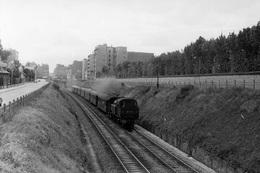 Vincennes (au Niveau De L'avenue Des Charmes). Locomotive 131 TB 23. Cliché Jacques Bazin. 29-07-1956 - Trains