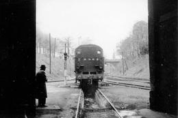 Dépôt De Nogent-Vincennes. Locomotive 131 TB 42. Cliché Jacques Bazin. 13-04-1957 - Trains