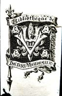 EX LIBRIS ANCIEN   BIBLIOTHEQUE DE HENRI VIGREAUX  UN MANQUE AU BAS - Bookplates