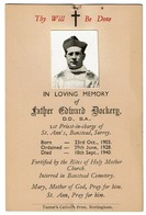 In Loving Memory - Father Edward DOCKERY - 1st Priest St. Ann's Banstead Surrey - 1903 / 1940 - 2 Scans - Imágenes Religiosas
