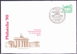 DDR GDR RDA - Privatumschlag Philatelia '90 (MiNr: PU 017 D 2/001c) 1990 - Gest Used Obl - [6] Democratic Republic