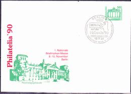 DDR GDR RDA - Privatumschlag Philatelia '90 (MiNr: PU 017 D 2/001d) 1990 - Gest Used Obl - [6] Democratic Republic