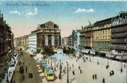 Bruxelles Place De Broukere     Tram - Places, Squares