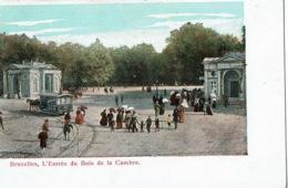 Bruxelles   L'entrée Du Bois De La Cambre  Tram - Autres