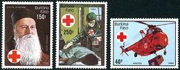 Burkina Faso 1985 Henri Dunant Transfusion Sang Sikorsky S-55 Chickasaw - Cruz Roja