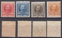 Dänemark Denmark Mi# 54-57 * Mint Frederik VIII 1907 - 1905-12 (Frederik VIII)