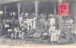 Sri Lanka - COLOMBO - Fruit Market - Publ. Andrée 71 - Sri Lanka (Ceylon)