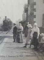 CPA  1917 - St -Mars-La-Brière (SARTHE) - La Gare ( Train Rentrant En Gare) - Autres Communes