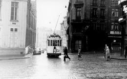 Bruxelles-Gare Centrale. Tramway Ligne 26. Cliché Jacques Bazin. 26-01-1957 - Tramways