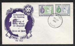 Kenya Uganda Tanganyika - 1958 Lakes Discovery Illustrated FDC - Nairobi Pmk - Kenya, Uganda & Tanganyika