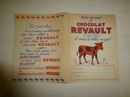 Chocolat REVAULT Vache, Protège-cahier Ancien, Ref 1657, ; PC 01 - Ohne Zuordnung