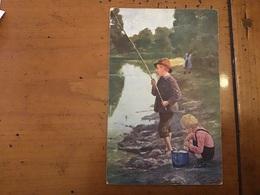 Jeune Pêcheur Avec Un Enfant. - Pesca
