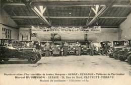 63 , CLERMONT FD , Garage Marcel Dubuisson , 24 Rue Du Nord , CF * 338 39 - Clermont Ferrand