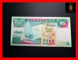 SINGAPORE 5 $  1989  P. 19  VF+ - Singapore