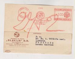 YUGOSLAVIA,1939 ,NOVI SAD  Postcard MACHINE CANCEL FLAM SLAVIJA D.d. - Briefe U. Dokumente