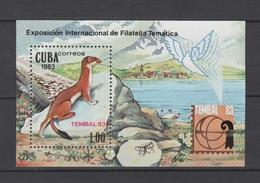 Cuba 1983 Kuba Mi Block 77(2740) Wiesel / Wiesel / Belette / Donnola / Comadreja / 黃鼠狼 / イタチ/ Chồn **/MNH - Non Classés