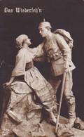AK Das Wiederseh'n - Deutscher Soldat Mit Frau - Skulptur - Ca. 1915  (49568) - Guerre 1914-18