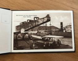 Album 12 Postais FAYAL Faial AZORES AÇORES Airplane 1220 HEINKEL Repair Dock. Set 12 Old Postcards Lot / Carnet PORTUGAL - Açores