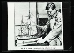Expo De Londres - Maquette Bateau - Frégate De 1750 - Coupure De Presse (encadré Photo) De 1931 - Bâteaux