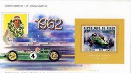 Niger  -   Lotus-Climax 25 Voiture De Course  (1962)   -  Carte Maximum (Timbre Neuf) - Cars