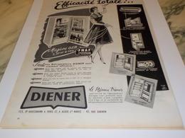 ANCIENNE  PUBLICITE EFFICACITE TOTALE  FRIGO DE DIENER 1960 - Autres Appareils