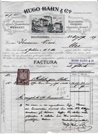 """Fattura Comm. Con Marca Da Bollo  -  Helfenberg  ( Ober Osterreich ) ,  Lavanderia-Tintoria """" Hugo  Hahn  &  C°.  """" - Autriche"""