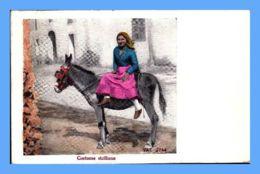 CPA - Costumes (Italie) - 2744. Costume Siciliano (colorized) - Autres Villes
