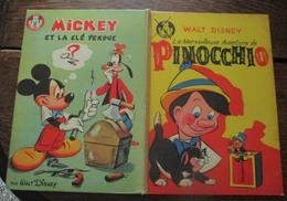 Walt Disney Livre 2 En 1  PINOCCHIO -  Mickey Et La Clé Perduede 1963 - Disney