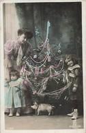 Noel Sapin Cochon Cpa Carte Fantaisie - Christmas