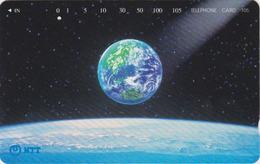 Télécarte Japon / NTT 231-418  ** ONE PUNCH ** - ESPACE Globe Terrestre - Space Earth Japan Phonecard - Erdkugel - Ruimtevaart