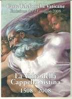 FOLDER VATICANO - ANNO 2008 - LA VOLTA DELLA CAPPELLA SISTINA - 1508 - 2008 - SERIE DI 4 VALORI NUOVI - Vatican