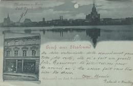 Gruss Aus Stralsund - Modewaren Haus - Carl Danckwardt 1898 - Stralsund