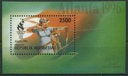 Indonesien 1996 Olympiade Atlanta: Bogenschießen Block 109 Postfrisch (C30119) - Indonésie