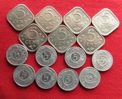 Antilles Netherlands 15 Coins X 5 Cents 1971 - 1999 - Antille Olandesi