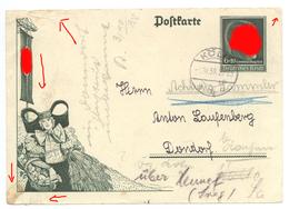 Dondorf Hennef Sieg Postkarte Erntedank Gel.1938 Erntedanktag Köln Hersel - Hennef