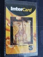 Caribbean Phonecard St Martin French INTERCARD  3 EURO  GIRAFFES MINT NO 197  **1756** - Antilles (French)
