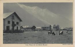 74 LES PRAZ DE CHAMONIX TROUPEAU DE VACHES EN PÂTURAGE DANS LE CENTRE DU VILLAGE  VALLEE DE CHAMONIX MONT BLANC - Chamonix-Mont-Blanc