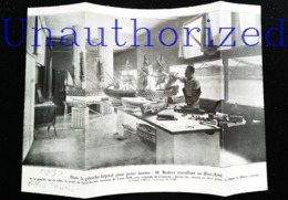 PARIS: Péniche-atelier - Réparation De Maquettes Bateaux Bois De Collection - Coupure De Presse (encadré Photo) De 1930 - Bâteaux