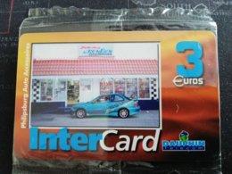 Caribbean Phonecard St Martin French INTERCARD  3 EURO  PHILIPPSBURG AUTO   TIRAGE 3000X  MINT NO 112  **1762** - Antilles (French)