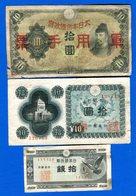 Japon  6  Billets  Dans  L'etat - Japon