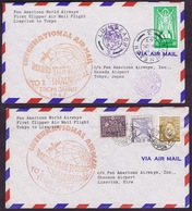 Ireland Airmail First Flight PanAm Shannon To Tokyo And Return - Poste Aérienne