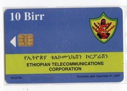 ETHIOPIE TELECARTE 10 BIRR ETC PARABOLE Date 2007 - Etiopía