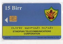 ETHIOPIE TELECARTE 15 BIRR ETC ANTENNE Date 2007 - Etiopía